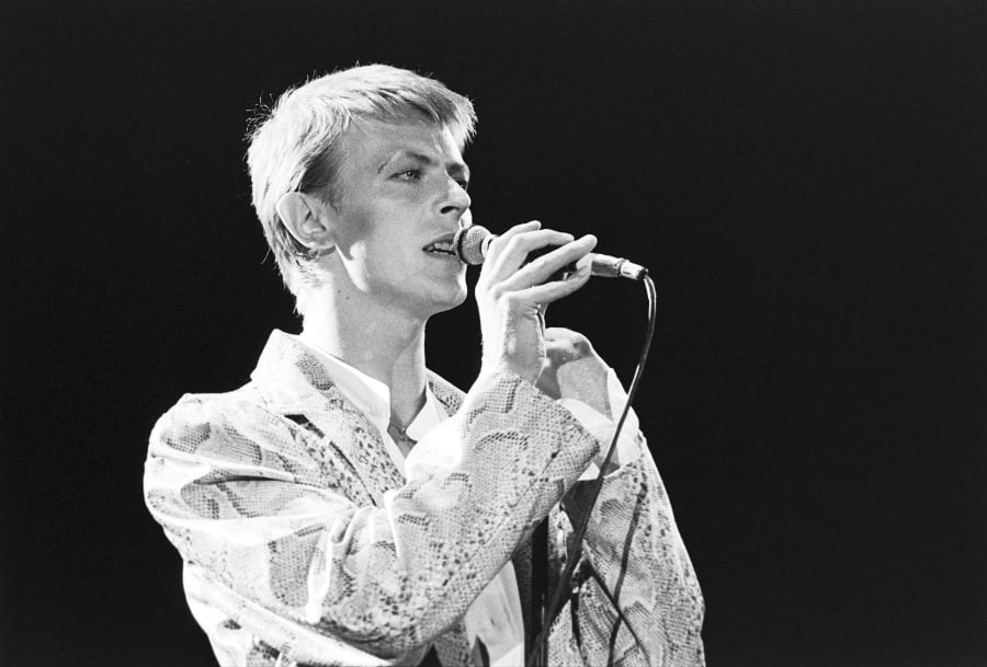 David Bowie, 'the thin white duke', in his prime in 1978 at Sydney