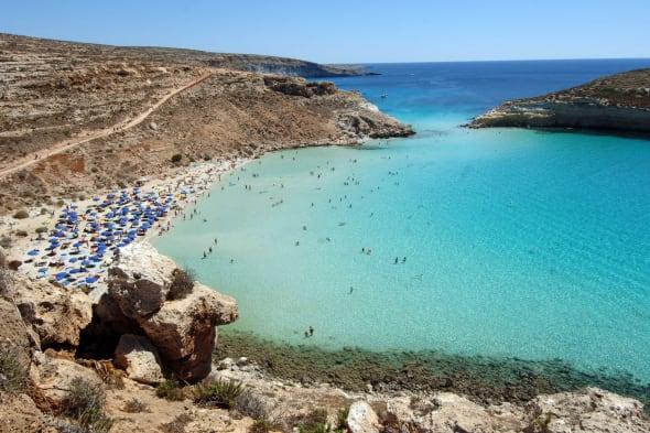 World's most beautiful beach: Rabbit Beach Lampedusa, Italy