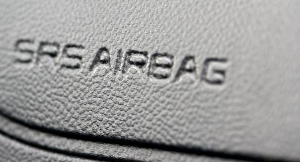 srs airbag built into a car dashboard