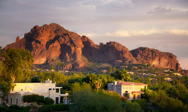 Camelback Mountain shot at sunset in the valley of the sun located in Scottsdale and Phoenix,AZ