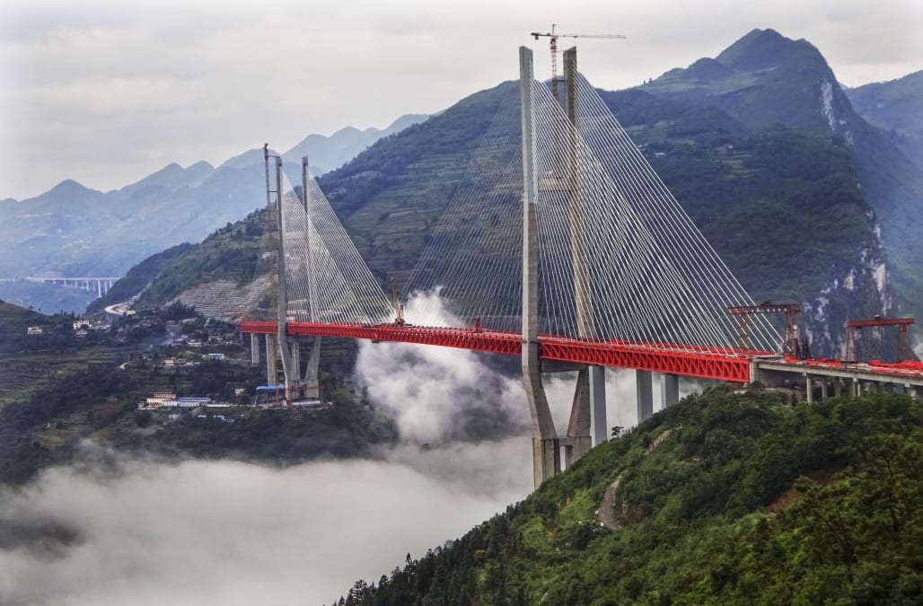 World's Highest Bridge Completes Connection In Guizhou