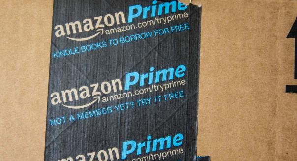 An Amazon Prime box