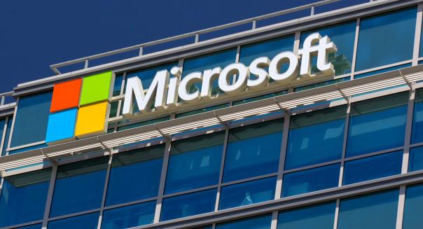 SANTA CLARA,CA/USA - MAY 11, 2014:  Microsoft corporate building in Santa Clara, California.  Microsoft is a multinational corpo