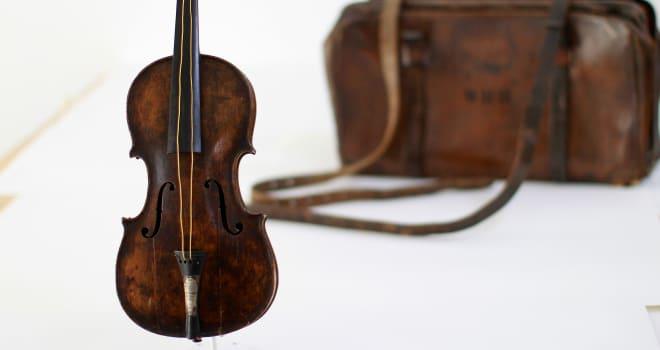 titanic violin sale
