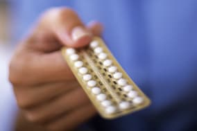 Oral contraception. The oral contraceptive pill contains synthetic versions of one or both of the female sex hormones responsibl