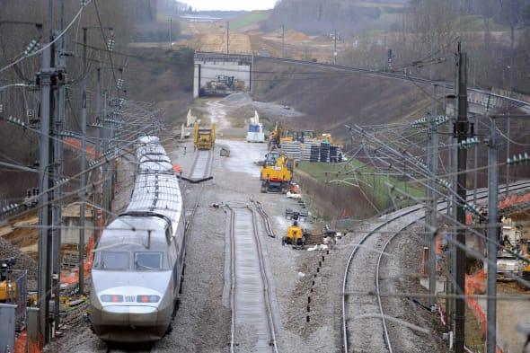 FRANCE-TRANSPORT-RAIL-LGV-CONSTRUCTION