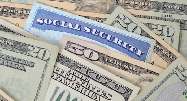 social security card and money...