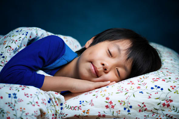 sweet sleeping asian child