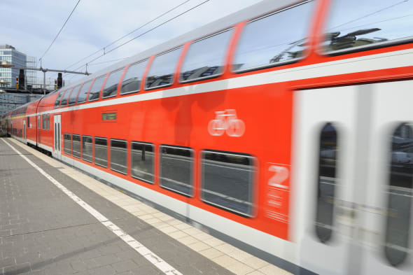 Train leaving the station