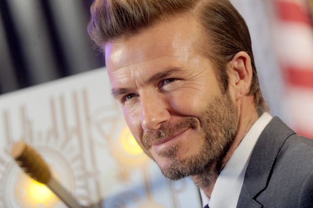 David Beckham lights The Empire State Building blue - New York