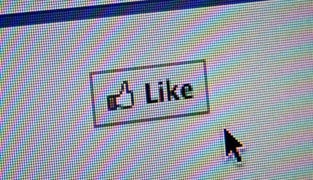 Close up of the Facebook 'like' button. (Editorial use only: print, TV, e-book and editorial website).