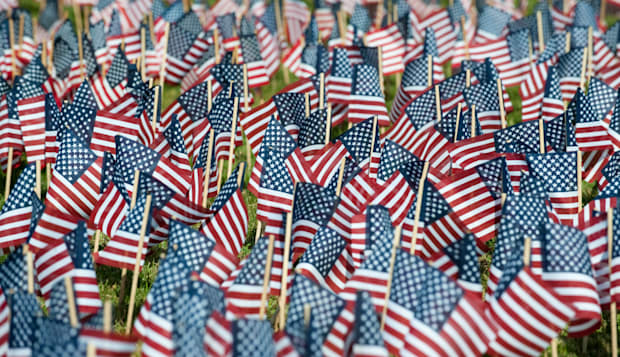 flags from united states fill a ...