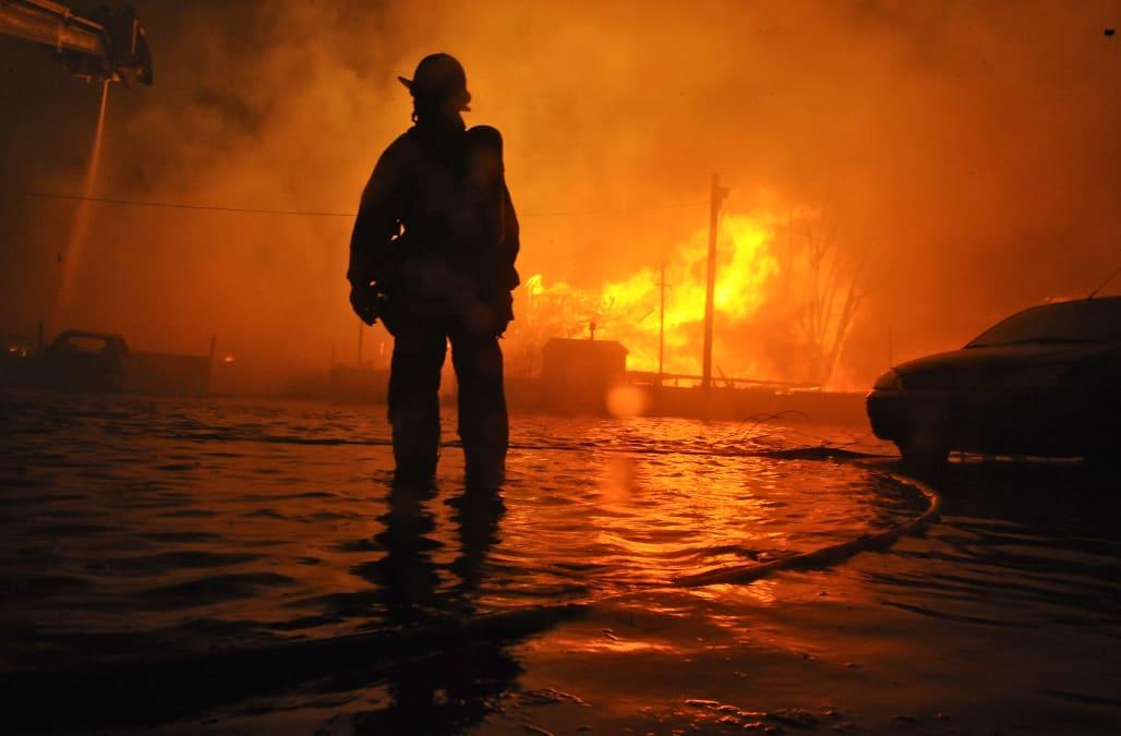 Hurrican Sandy Fires