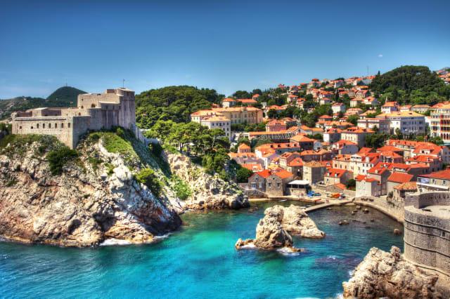 Old Fortress in Dubrovnik Harbor.