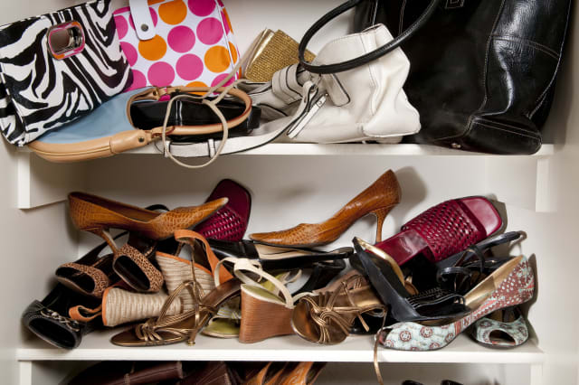 Scattered Women's Shoes And Purses
