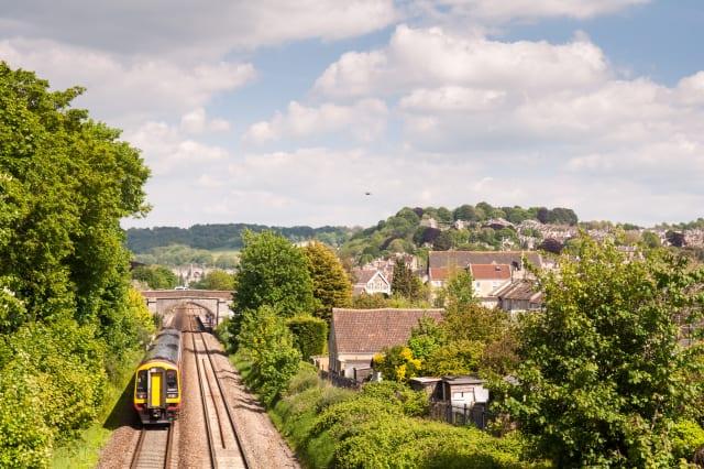 Great Western train in Bath