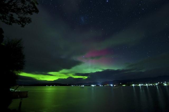 Aurora australis taken from Howden, southern Tasmania.