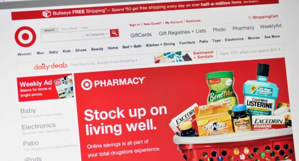 Target store website