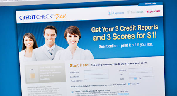 Credit Check website - online credit score reports