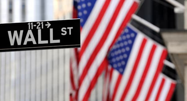 """wall street"" sign in focus ..."