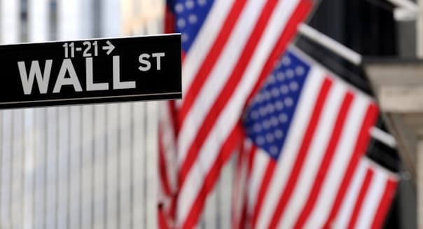 """""""wall street"""" sign in focus ..."""