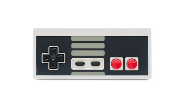 retro gamepad isolated on white ...
