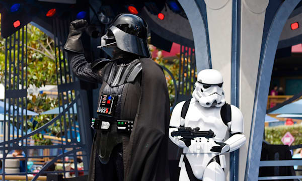 Star Wars Day. Star Wars Show at Disneyland Amusement Park in California USA