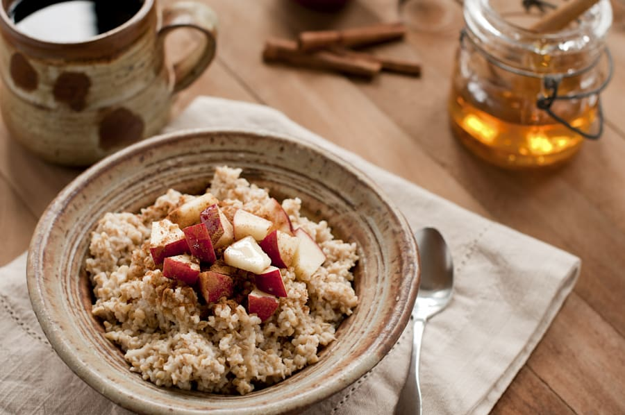 Apple and cinnamon is another winner for porridge