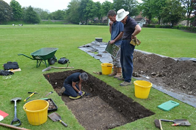 Roman buildings discovered under Chichester park