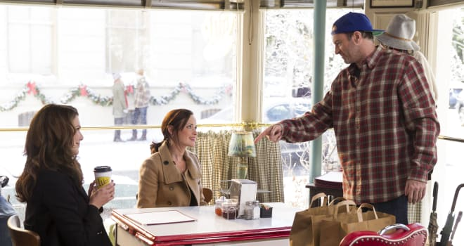 gilmore girls, a year in the life, netflix, luke's, luke's diner, coffee