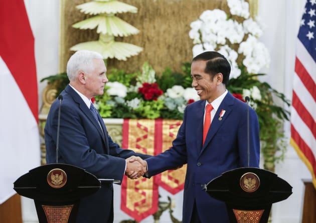 Indonesia's President Joko Widodo met with US Vice President Mike Pence in Jakarta on