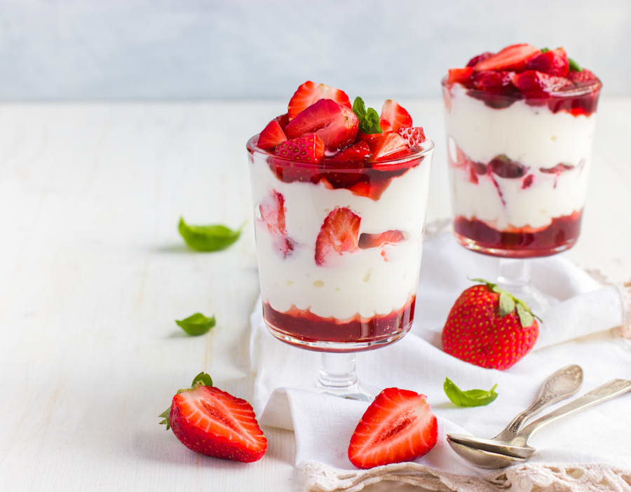 Fruit and yoghurt is good light