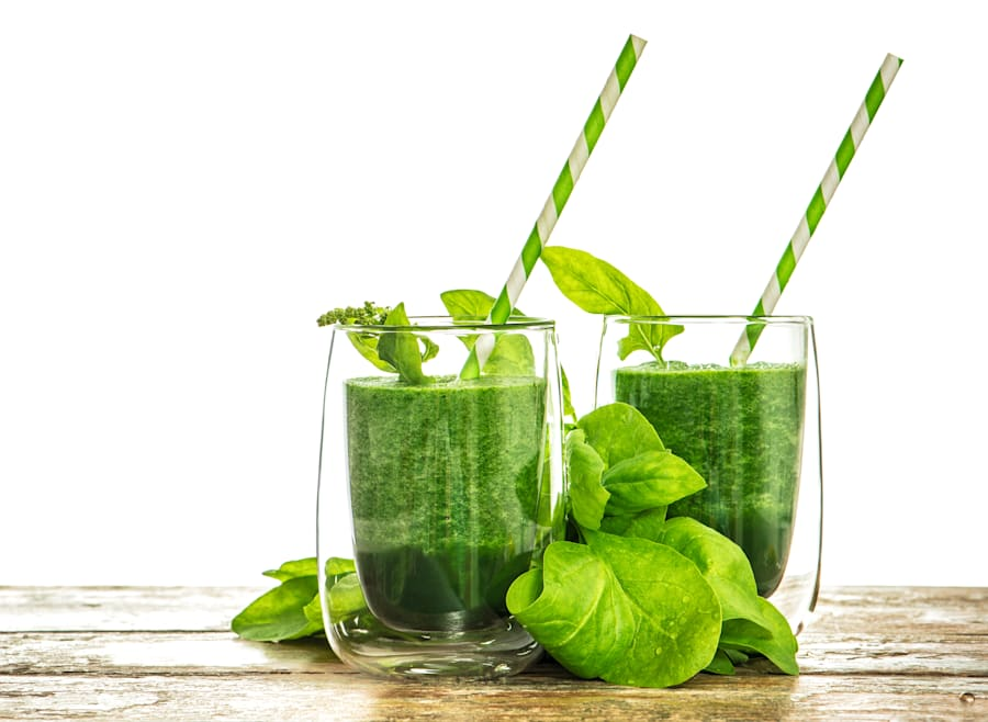 This fresh smoothie uses antioxidant-rich matcha, a powdered green