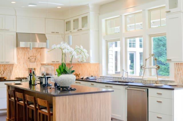 beautiful kitchen in new luxury ...