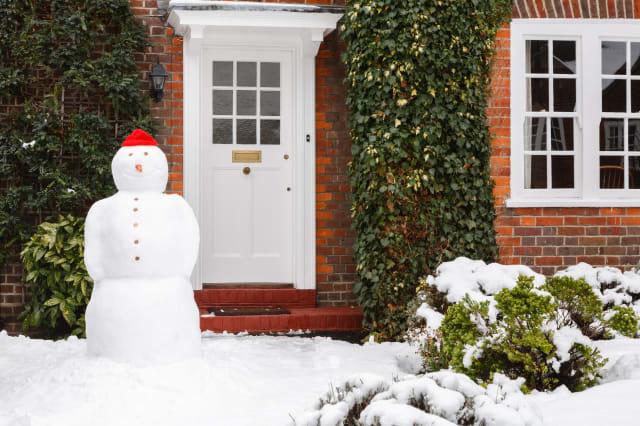 snowman in garden
