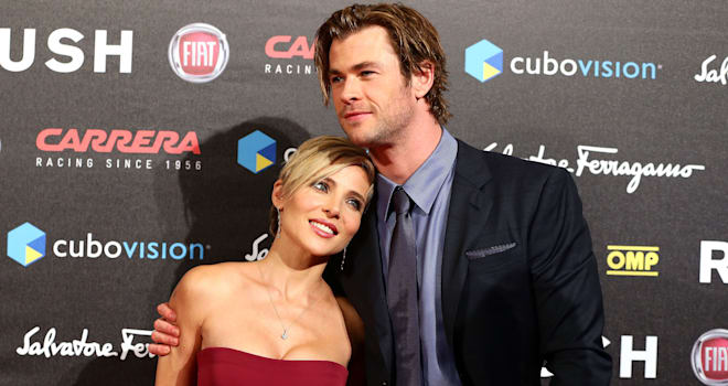 Chris Hemsworth and Elsa Pataky at the 'Rush' Rome Premiere