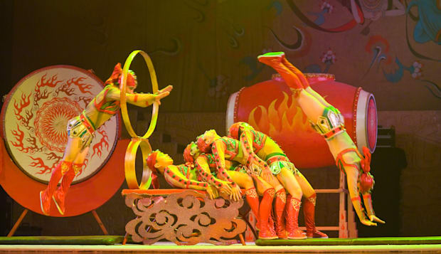 One of the acts performing at the stunning Chaoyang acrobatic theatre in Beijing.