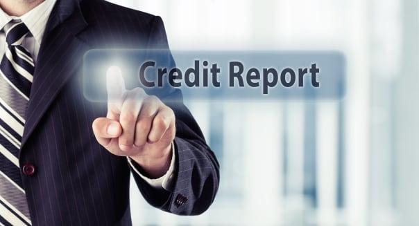 businessman pressing credit...