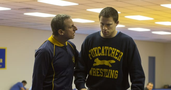 Foxcatcher starring Steve Carell, Channing Tatum