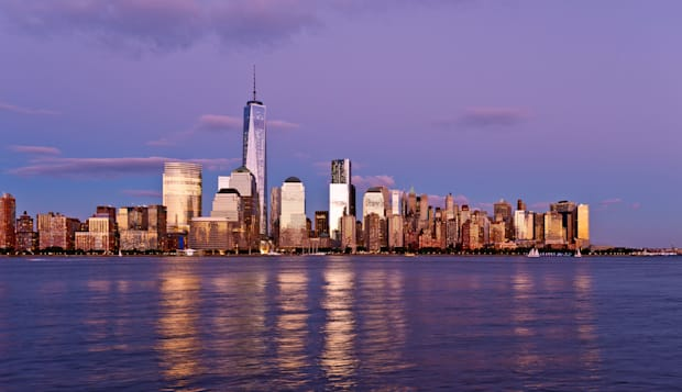 Downtown Manhattan Skyline with the New One World Trade Center, Freedom Tower, New York City.