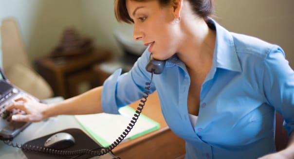 Businesswoman on Telephone