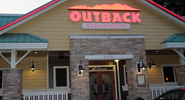 Florida Ocala Outback Steakhouse Restaurant Australian Theme Front Entrance