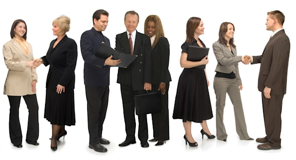 group of corporate business...