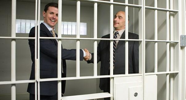Businessmen in jail