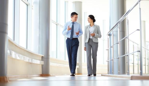 confident business partners...