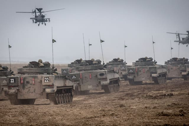 British Army Hold Exercise Tractable On Salisbury Plain