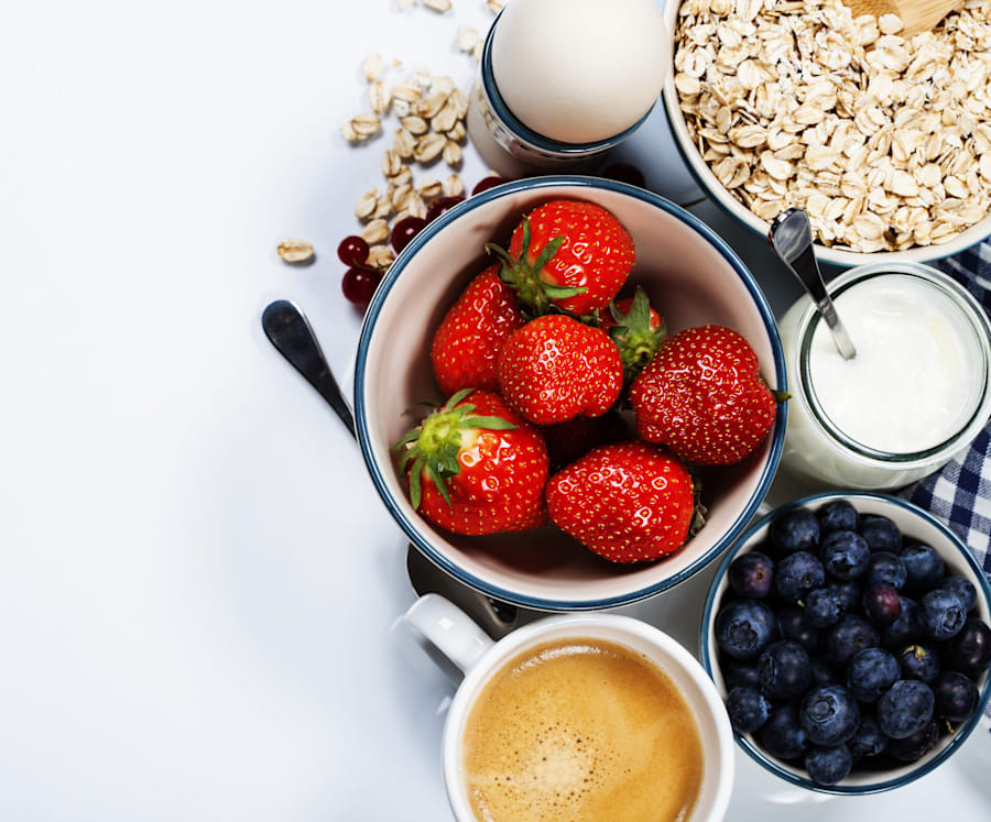 Breakfast doesn't have to be fancy or hard. Have a bowl of muesli with fresh berries and yoghurt and...