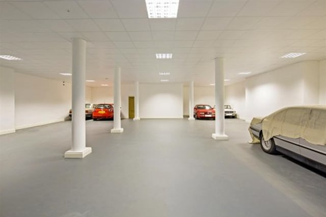 The huge car showroom