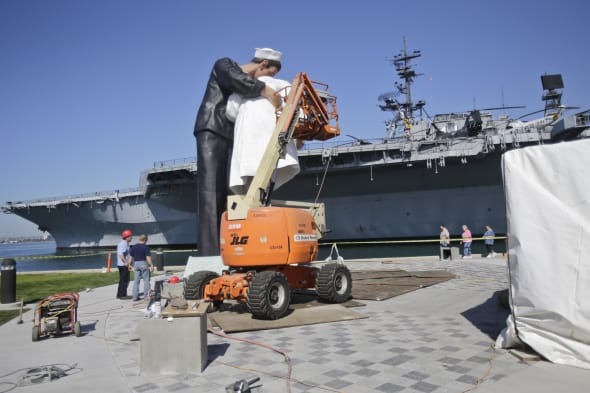 Kissing Statue USS Midway museum San Diego