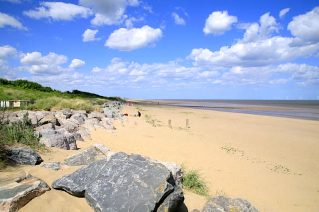 Is there a walled Roman town lying beneath a Skegness beach?